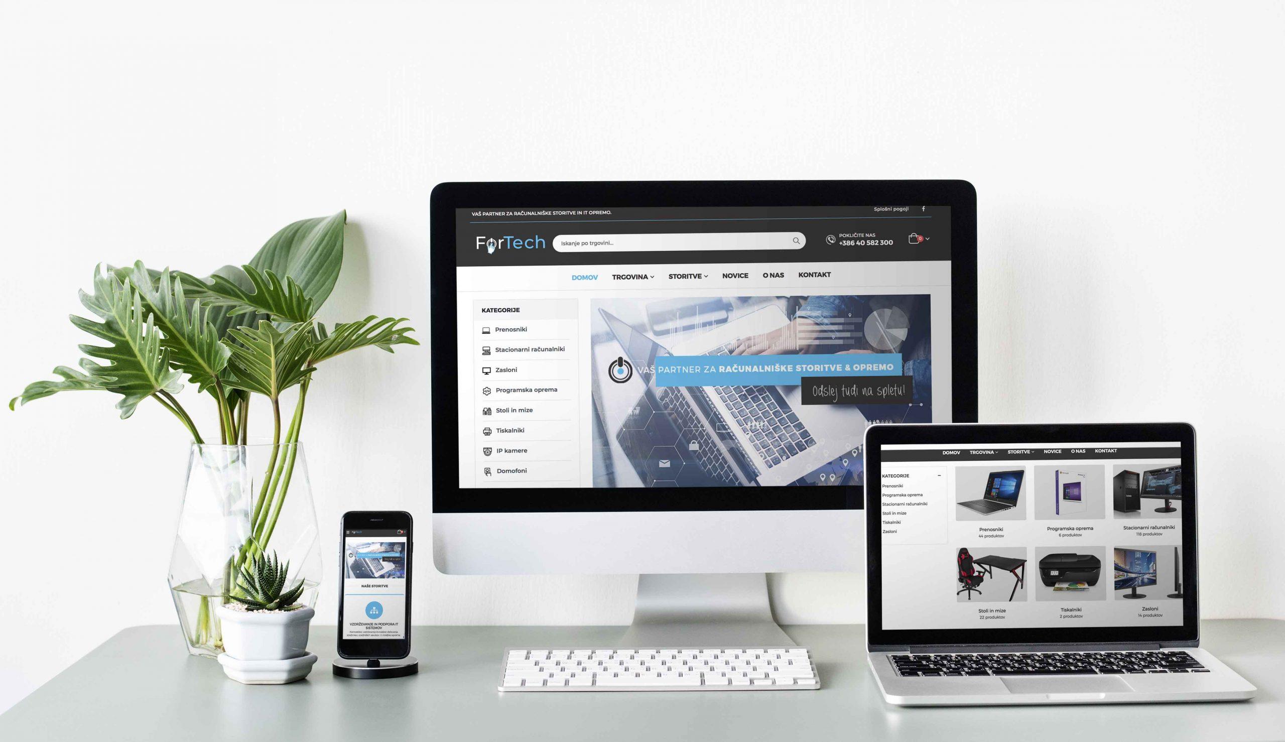 Fortech.si - spletna stran in spletna trgovina