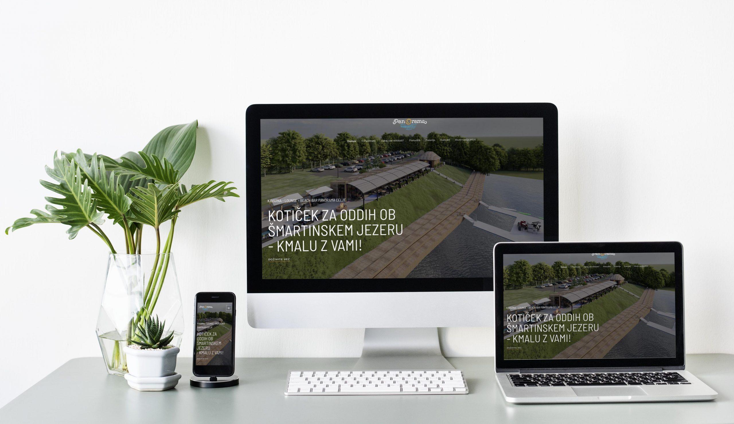 Kavarna Panorama - spletna stran in rezervacijska platforma