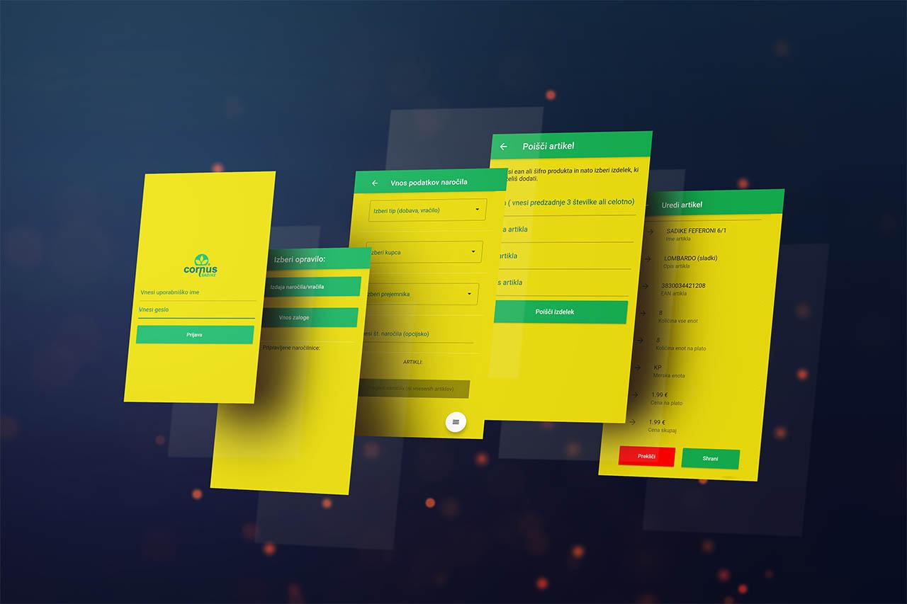 Mobilna aplikacija Cornus - razvoj